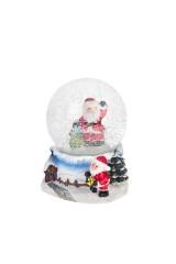 Шар со снегом Дедушка Мороз с подарками