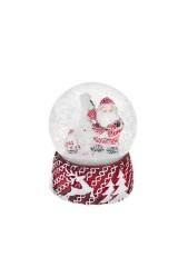 Шар со снегом Дед Мороз у елочки