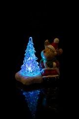 Украшение новогоднее светящееся Лосик у елочки