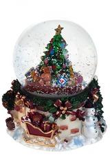 Украшение новогоднее музыкальное Снеговик у новогодней елки