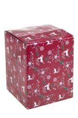 Украшение новогоднее музыкальное Шар - Дед Мороз на санях