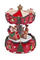 Украшение новогоднее музыкальное и двигающееся Дед Мороз на санях
