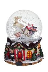 Украшение новогоднее музыкальное Дед Мороз на санях