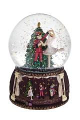 Шар со снегом музыкальный Щелкунчик и Мари