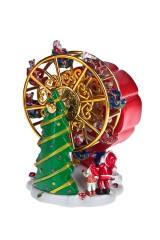 Украшение новогоднее музыкальное и двигающееся Сказочная карусель