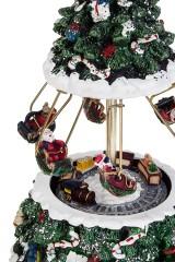 Украшение новогоднее музыкальное и двигающееся Веселая карусель