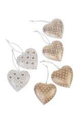 Набор украшений декоративных Сердечки с узорами