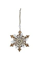 Украшение декоративное Резная снежинка