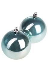 Набор шаров елочных Набор шаров елочных, 2-предм., Д=7.5см, пласт., мятный