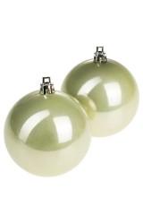 Набор шаров елочных Набор шаров елочных, 2-предм., Д=7.5см, пласт., жемчужный