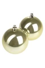Набор шаров елочных Набор шаров елочных, 2-предм., Д=7.5см, пласт., салат.