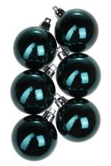 Набор шаров елочных Набор шаров елочных, 6-предм., Д=5см, пласт., темно-изумрудный