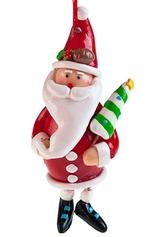Фигурка новогодняя Дед Мороз с елочкой