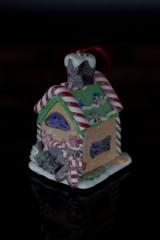 Украшение для интерьера светящееся Шоколадно-фркутовый домик