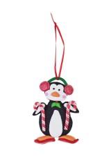 Украшение декоративное Пингвин на лыжах