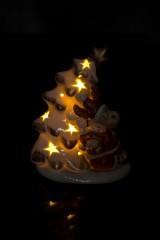 Украшение новогоднее светящееся Елочка с лосиком