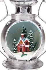 Украшение новогоднее светящееся Лампа - Домик в снегу