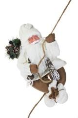 Украшение новогоднее Дед Мороз с елочкой на веревке