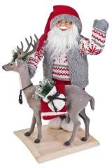 Украшение новогоднее Дед Мороз с оленем