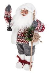 Украшение новогоднее Дед Мороз с посохом и фонариком