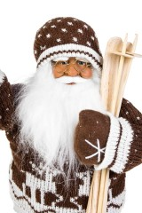 Украшение новогоднее Дед Мороз с лыжами и фонариком
