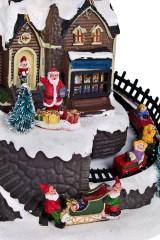 Украшение новогоднее светящ., музык. и двигающ. Дом Деда Мороза
