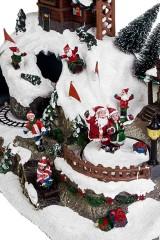 Украшение новогоднее светящееся, музыкальное и двигающееся Альпийская сказка