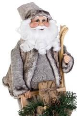 Украшение новогоднее Дед Мороз на санях с подарками