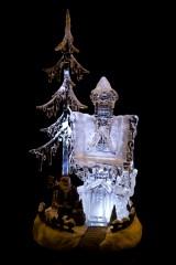 Украшение новогоднее светящееся и музык. Дом Деда Мороза