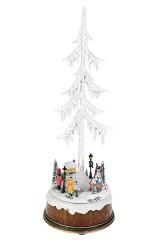 Украшение новогоднее светящееся, музыкальное и двигающееся Городская елка