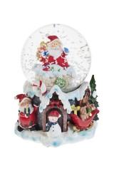 Шар со снегом музыкальный Дед Мороз