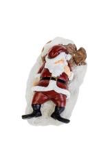 Фигурка новогодняя Спящий Дед Мороз