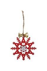 Украшение новогоднее Снежинка с колокольчиком