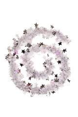 Мишура Мишура, Дл=2м, Ш=7см, фольга блестящая, серебр., со звездочками