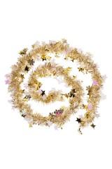 Мишура Мишура, Дл=2м, Ш=7см, фольга блестящая, золот., со звездочками