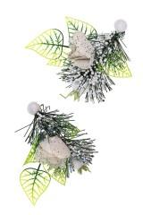 Украшение новогоднее Заснеженные цветы