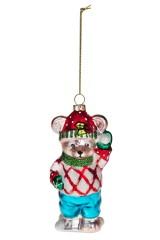 Украшение елочное Мишка в свитере