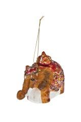Украшение елочное Индийский слоник