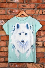 Футболка Белый волк