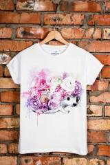 Футболка женская Ежик в цветах