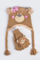 Комплект детский (шапка, перчатки) Мишка