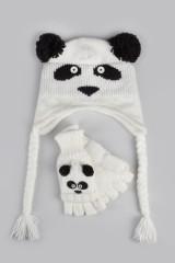 Комплект детский (шапка, перчатки) Панда