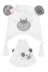 Комплект детский (шапка, перчатки) Мишутка