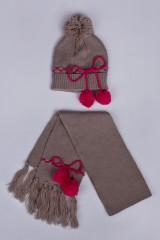 Комплект детский (шапка, шарф) Симпли