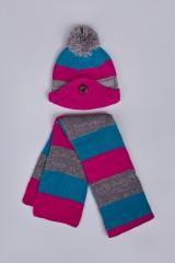 Комплект детский (шапка, шарф) Страйпи