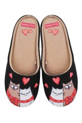 Тапочки домашние женские Влюбленные коты
