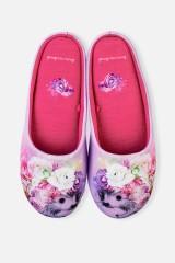 Тапочки домашние женские Ежик в цветах