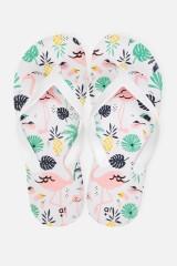 Шлепанцы Пальмы и фламинго