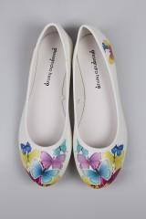 Балетки женские Разноцветные бабочки