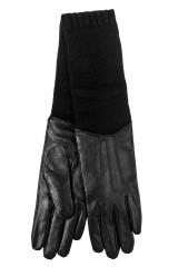 Перчатки удлиненные кожаные Ева